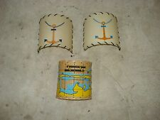 Vintage Nautical Half Round Clip On Boat Cabin Lamp Shades