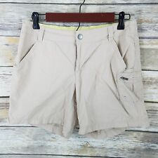 Columbia Size 6 Shorts Beige Lightweight Nylon Hiking Womens Active Outdoor