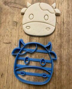 Cute cow cookie cutter, biscuit cutter, cute animal cutter, farm