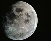 New 8x10 NASA Photo: Close-Up of The Moon from Apollo 8 Lunar Mission, 1968