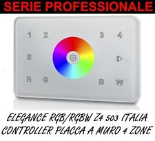 TOUCH PANEL MURO RGB RGBW INCASSO 503 4 ZONE CONTROLLER LED STRISCIA 5050 WIFI