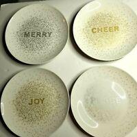 Mikasa Porcelain Set of 4 Cheers Holiday Confetti Salad Plates