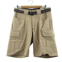 Eddie Bauer Men's Belted Adventure Trek Short, size 32, Khaki