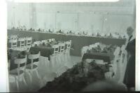 (2) B&W Press Photo Negative Banquet Hall Tables Set Up T1356