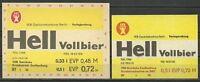 ALT ! DDR Bieretiketten VEB Getränke Senftenberg im Getränkekombinat Berlin
