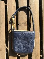 JP Ourse Navy Blue Leather Mini Wristlet Purse