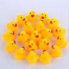 Yellow Duck Baby  Bath Toy Rubber Whistle Mini Ducks Fun Kids Squeaky Toy