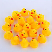 10 X TOY BABY DUCK RUBBER YELLOW WHISTLE DUCKS FUN KIDS BATH SQUEAKY NEW BALLOON