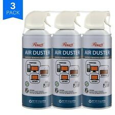 Rosewill Compressed Air Duster, 10oz Cleaning Spray for Electronics 3-Pack