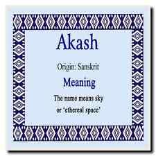 Akash nome personalizzato significato Coaster