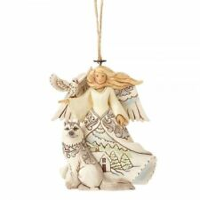 Jim Shore Heartwood Creek Woodland Angel With Husky Christmas Hanging Ornament