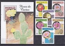 Sahara 1998 - Set + Block - Bloemen/Flowers/Blüte (Cactus)