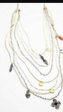 NWT Free People Multi Strands Tiered Layer Charm Necklace