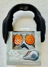 180°s Stereo Headphones~Complete with Black Fleece Ear Warmers~ Brand New NRFB