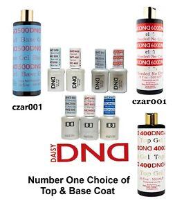 DND UV/LED Gel Top Coat 15ml, Base Coat 15ml & REFILL KIT 16 oz + 2 -You Choose