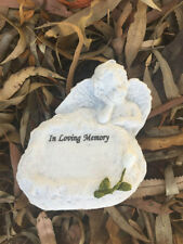 "Angel ""In Loving Memory"" Memorial Stone Garden Remembrance Figurine Engraved"