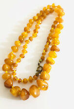 Gilt Clasp , 19.8 Grams Art Deco Amber Natural Necklace