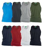 D555 New Mens Kingsize Muscle Vest T-Shirt Cotton Summer Sleeveless Tank Top Big