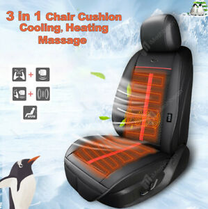 3 In1 Massage Car Seat Cover Cushion Cooling Warm Heated Chair Universal Truck