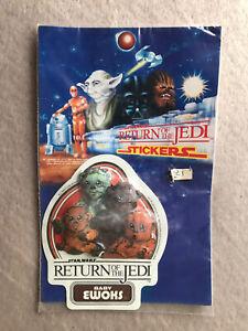 Star Wars Return Of The Jedi Vintage Baby Ewoks Sticker 1983 Fun Products