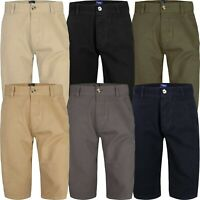 Mens Chino Summer Shorts Knee Length Long 3/4 Casual Bottom Cotton Pant Branded