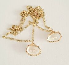 18k Gold Plated Shell Freshwater Pearl Chain Necklace Other Bloggers Stories