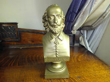 Antique Bronze Bust Of Shakespeare Chardigni