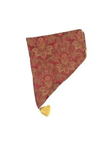 1 Luxury Croscill Bellissima Red Gold Ascot Valance Curtain Embroidered Tassel
