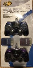 Mad Catz Dual Pack Playstation Controllers & 2 Memory Cards