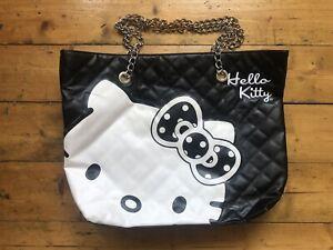 Hello Kitty Black And White Handbag Chain Handle Shoulder Bag Sanrio