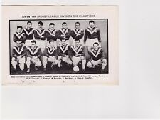 Team Pic from 1964-65 Football Annual - Swinton + Widnes Rugby League