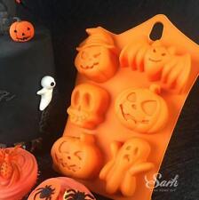 Halloween Bat Pumpkin Goast Cake Mold Flexible Silicone Soap Mould Chocolate