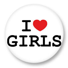 "Pin Button Badge Ø25mm 1"" ♥ I Love You j'aime Ti amo te amo Girls Fille Femme"