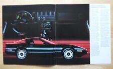 CHEVROLET CORVETTE 1985 grand format brochure-rare