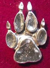 New Wolf Dog Fox Paw Hunting Shooting Brooch Pin