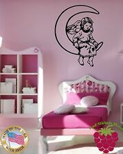 Wall Stickers Vinyl Decal Nursery Moon Angel Wings Religion ig809