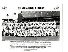 1988 LOS ANGELES DODGERS TEAM  8x10 PHOTO  BASEBALL GIBSON VALENZUELA MLB