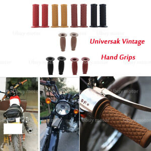 "7/8"" 22mm Rubber Cafe Racer Hand Grips For Kawasaki KZ650 W650 KZ400 KZ550 K750"