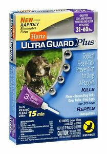 Hartz UltraGuard Plus Flea Tick Prevention For Dogs & Puppies 31 - 60 lbs *READ*