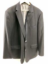 Mens Petrocelli Classic Navy Blue Traveller Blazer 58 R Portly Sport Coat Jacket