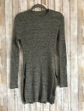 Cotton On Gray Long Sleeve Tunic Side Slit Long Turtle Neck Top Large STUNNING*