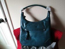 Frye Melissa Zip Hobo Peacock Leather Handbag Purse