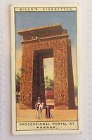 Processional Portal Karnak Wonders Of The Past 1926 Wills Cigarette Card (B14)