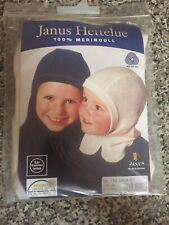 Janus 100% Merino Wool, Toddler Beige Full Coverage Hat, Size 110cm,from Norway