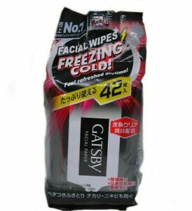 Gatsby No.1 Facial Wipes Freezing Cold Feel Refreshed Anytime 42 Sheets