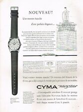 G - Publicité Advertising 1957 La Montre Cyma Navystar