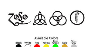 LED ZEPPELIN VINYL DECAL STICKER CUSTOM SIZE AND COLOR 001