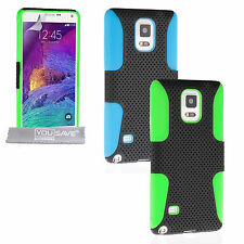 Yousave Accessories For Samsung Galaxy Note 4 Tough Mesh Silicone Gel Case Cover