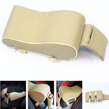 1pc Beige Car Auto Seat Side Armrest Pad Cover Central Console+Phone Storage Box