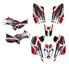 Polaris Scrambler 850 1000 Graphics Kit Free Custom Service #1300-Red Tribal